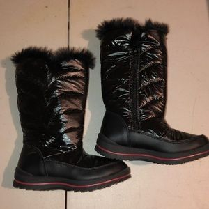 Girls' black Snow Boots- Never worn!